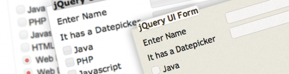 Enhancing Forms using jQuery UI