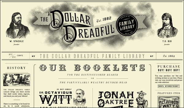 The Dollar Dreadful | Vintage / Retro Web Design