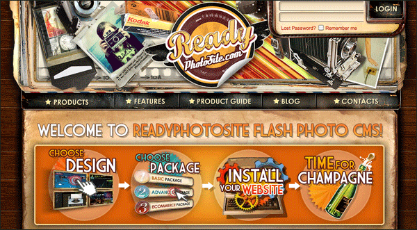 Ready Photosite | Vintage / Retro Web Design