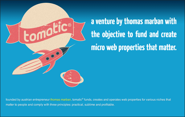 Tomatic | Vintage / Retro Web Design
